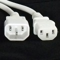 1M power cord - C13 IEC to C14 IEC- White
